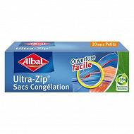 Albal sacs congélation x20 ultra zip petit modèle 1l