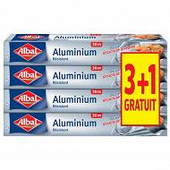 Albal papier aluminium 3x30m + 1 rouleau offert