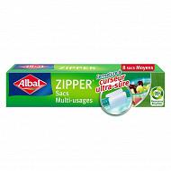 Albal sacs multi usages x8 zipper moyen modèle 3L