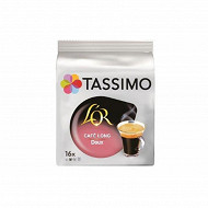 Tassimo l'or cafe long doux x 16 89g
