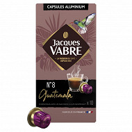 Jacques vabre n°8 guatemala capsules type nespresso x10 52g