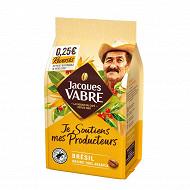 Jacques vabre producteurs brazil café en grains 400g