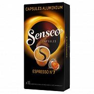Senseo espresso n°7 caps x10-52gr
