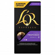 L'or espresso lungo profondo capsules x10 52g