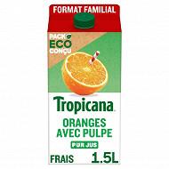 Tropicana Pure Premium orange avec pulpe pus jus brique 1,5l format familial