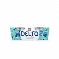 Delta yaourt grec nature 5%mg 2x150g