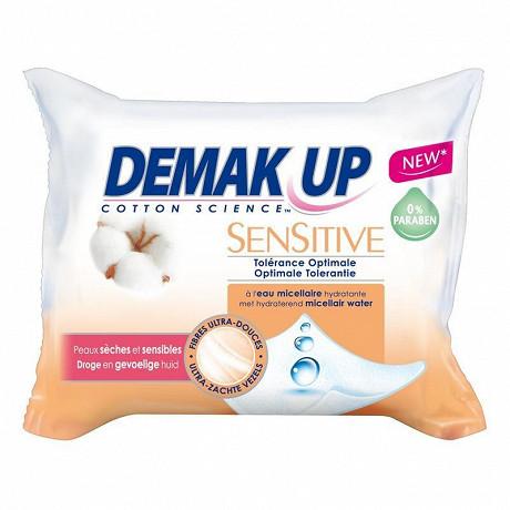Demak'Up sensitive 23 lingettes peaux sèches et sensibles