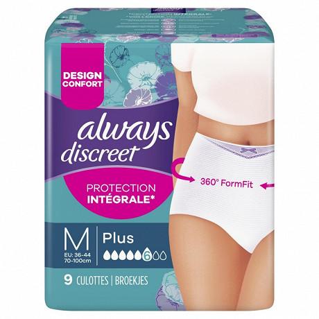 Always discreet sous vetements incontinence plus taille M X9