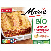 Marie lasagnes à la bolognaise béchamel gratinée bio 850g