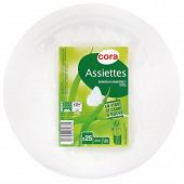 Cora assiettes x25 biodégradables 23cm