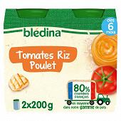 Bledina pots tomates riz poulet 2x200g