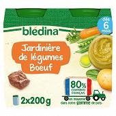 Bledina pots jardinière de légumes boeuf 2x200g