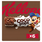 Kellogg's barres coco pops riz soufflé au chocolat et lait x6 120g