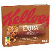 Kellogg's barres extra caramel, amande et pointe de sel 4x32g - 128g
