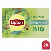 Lipton thé vert bio menthe orient 20 sachets 26g