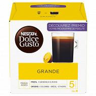 Nescafé Dolce Gusto Grande, capsule café intensité 5 - x16 dosettes