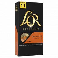 L'or café capsules delizioso x11 57g