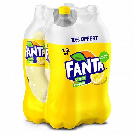 Fanta citron frappé pet 4x1.5l  10% offert