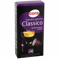 Cora capsules espresso classico par 10 - 52g