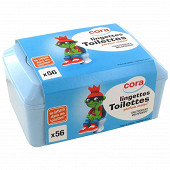 Cora boîte lingettes papier toilette enfants x56