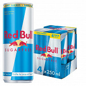 Red bull sugar free 4x25 cl