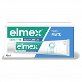 Elmex dentifrice sensitive blancheur bitube 2x75ml