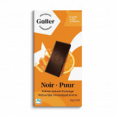 Galler chocolat noir 70% orange 80g