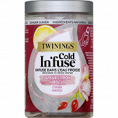 Twinings cold in fuse saveur citron hibuscus x10 25g