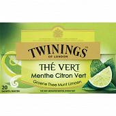 Twinings thé vert menthe citron vert x20 30g