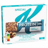 Kellogg's spécial k protein barres cérales coco cacao noix de cajou 112g