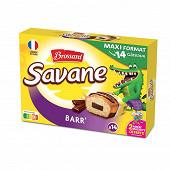 Brossard savane pocket x 14 barr' chocolat 378gr