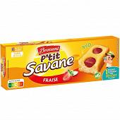 Brossard p'tit savane duo fraise x6 150g