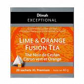 Dilmah exceptional thé noir ceylan citron vert et orange 40g