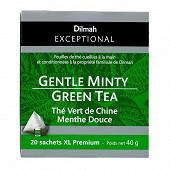Dilmah exceptional thé vert de Chine menthe douce x20 40g
