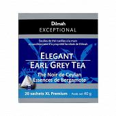 Dilmah exceptional thé noir de Ceylan essences de bergamote x20 40g