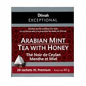 Dilmah exceptional thé noir de Ceylan menthe et miel x20 40g