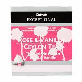 Dilmah exceptional thé noir Ceylan rose vanille 40g