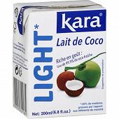 Kara lait de coco light 200 ml
