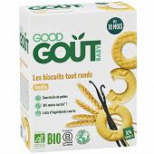 Good Goût Biscuits tout ronds à la vanille 80g