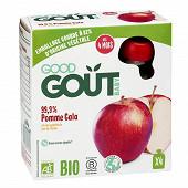 Good goût gourde pomme gala bio 4x85g dès 4 mois