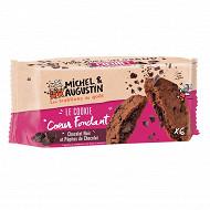 Michel et augustin super cookies Coeur fondant tout chocolat 180g