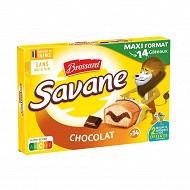 Brossard savane pocket chocolat x14 420g