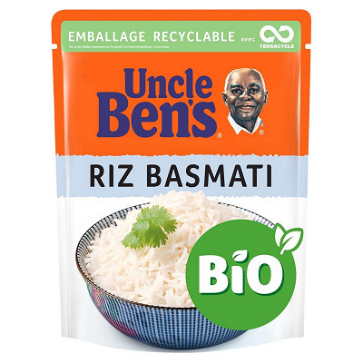Uncle Ben's Uncle ben's riz micro-ondable basmati bio 2mn 240g