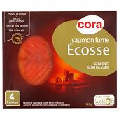 Cora saumon fumé Ecosse 4 tranches 140g