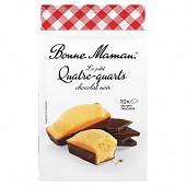 Bonne Maman petits quatre quarts x10 nappés chocolat noir 300g