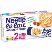 Nestlé Lait concentré sucré à pâtisser 2 tubes de 170g