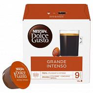 Nescafé Dolce Gusto Grande intenso, capsule café intensité 9 - x16 dosettes