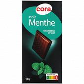 Cora chocolat noir menthe 100g