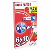 Freedent fraise maxi format 6x10 84g