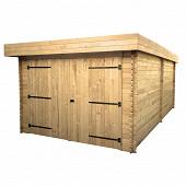 Garage madriers 28 mm dimensions extérieure hors tout 21.46 m2